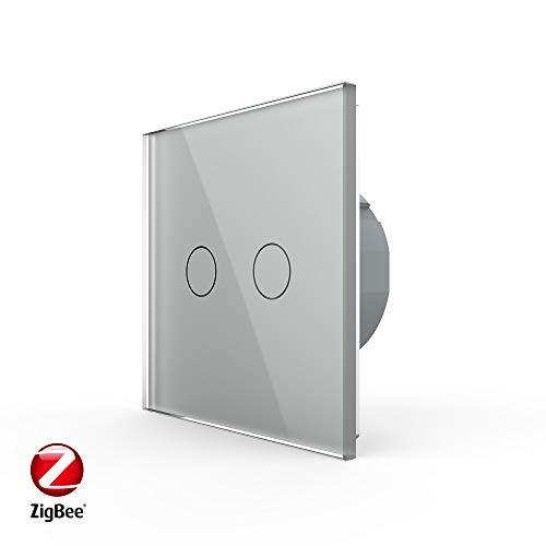 Zigbee Livolo Serienschalter WLAN SmartHome ZigBee Smart VL-C702Z-15 Grau