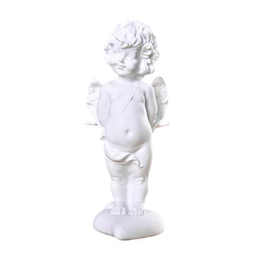 LIOOBO - Figura de ángel con piedra arenisca de imitación, decoración para el hogar, la oficina, el jardín, la boda, la valentía, el cumpleaños, estilo 1, arenisca, Diseño 2, medium