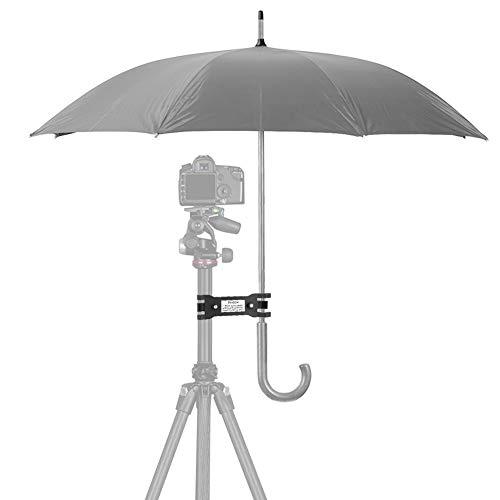Soporte de Abrazadera, Soporte de sombrilla montado en trípode Accesorio de fotografía para fotografía al Aire Libre Cortina de Lluvia y sombrilla