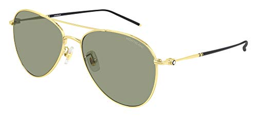 Mont Blanc Gafas de Sol MB0128S Gold/Green 60/17/145 hombre