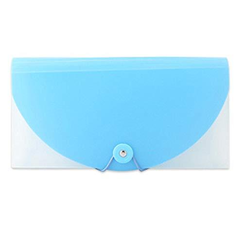 Officeship 13ポケットポリエキスパンドファイル オフィス学生用品用のA6ドキュメントフォルダー 領収書と小切手の個人小切手サイズ - ブルー - 12 個入り