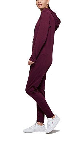 OnePiece Damen UNO Jumpsuit, Violett (Burgundy), 40 (Herstellergröße: L) - 5