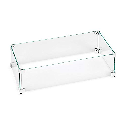 American Fireglass Tempered Glass Flame Guard for 24' X 8' Drop-in Fire Pit Pan