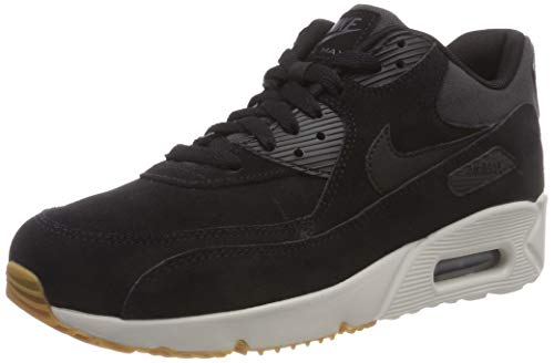 Nike Air MAX 90 Ultra 2.0 LTR, Zapatillas de Gimnasia para Hombre, Negro (Black/Black/Lt Bone/Gum Med Brown/Anthracite 003), 43 EU