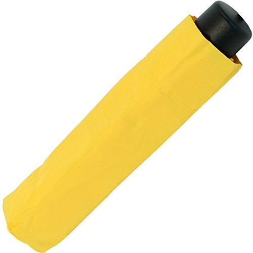 Paraguas amarillo mini de bolsillo, unisex