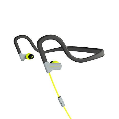 Energy Sistem Sport 2 In-Ear-Kopfhörer (Neckband-Fit, Sweatproof, Wiedergabe-Control, Mikrofon) Gelb