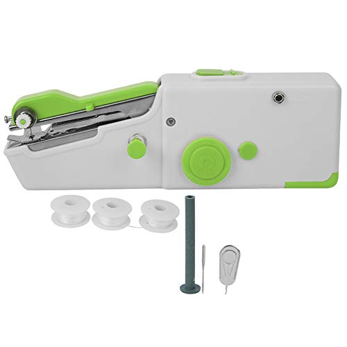 Buy Discount Cuque Hand Sewing Machine, Portable DIY Mini Household Electric Stitch Needlework Tool(...