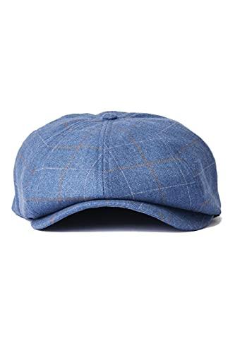 BRIXTON Brood Snap cap Beret, Plaid Blu Ardesia/Leone, XS Unisex-Adulto