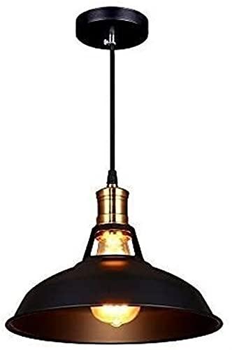 Pianuo Vintage Lámpara de techo industrial Edison Colgante Luz de metal Shade para Loft Coffe Bar Cocina Decorativo Colgante Colgante Luz