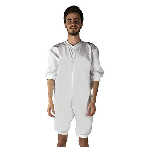 Pijama antipañal de sarga (verano), manga y pierna corta. talla s