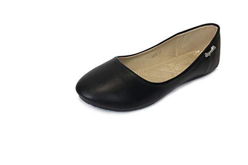 Frentree Klassische Damen Ballerinas Schuhe(nehmen Sie eine Nummer größer als Vorschlag), Farbe:schwarz, Größe:38