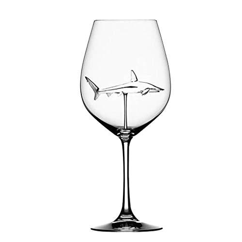 2er 300 ml Elegante Hai Geformt Wassergläser Glas Kristallglas Kelchgläser, Goblets / Trinkbecher / Weinkelchen, Cristal Weingläser Sektkelche Rotweingläser / Becher Kelch /Gläser Kelche für Partys