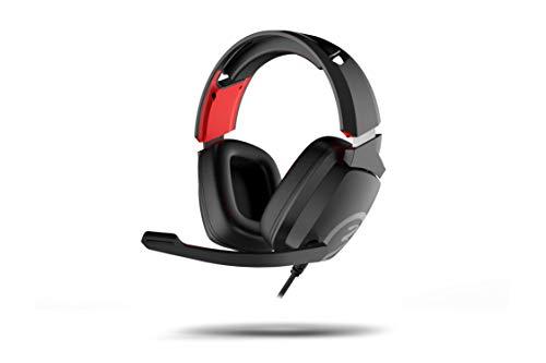 Gaming-Headset Ozone Ekho X40, mit Mikrofon, kompatibel mit PS4, PC, Xbox, Switch, Lautsprecher 50 mm, Verstellbarer Kopfband, Treiber, faltbares Mikrofon, ergonomisch, Schwarz