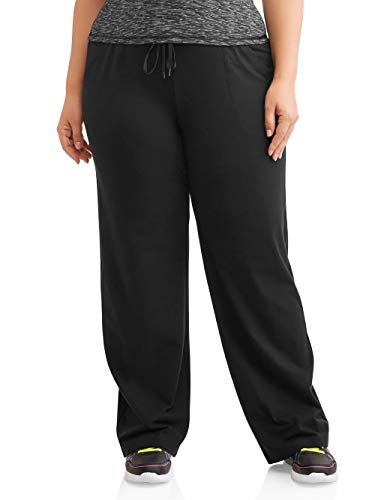 Athletic Works Women's Plus-Size Dri-More Core Relaxed Fit Workout Pant, Black, 4X