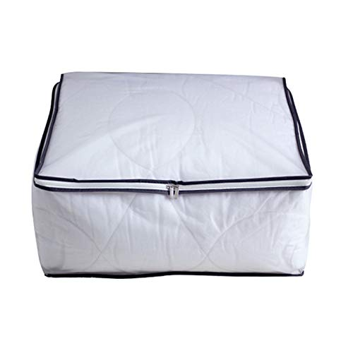 Modern Style Large Multifunction Foldable Waterproof Storage Boxes Storage Bag with Zips Household Bedroom Space-Saving Portable Clothing Organizer for Comforters, Blankets, Bedding,58*42*22cm