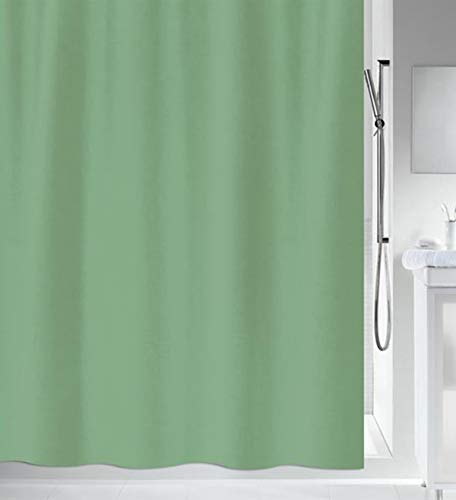 Spirella Primo Collectie, textiel douchegordijn, 240 x 200, 100% polyester, groen