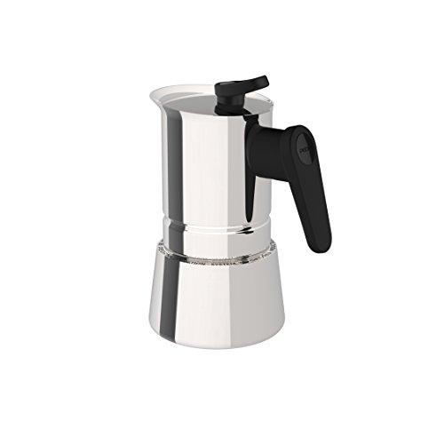Pedrini 02CF036 Caffettiera induzione, Acciaio Inossidabile, Steel Moka, 2 tazze