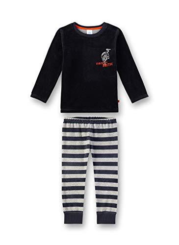 Sanetta Jungen Pyjama Zweiteiliger Schlafanzug, Grau (Shark 1397), (Herstellergröße: 128)