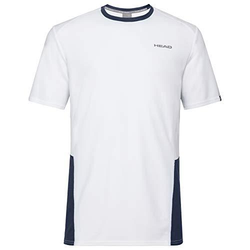 HEAD Jungen CLUB Tech B T-shirts CLUB Tech T-Shirt B, white/darkblue, XL (Herstellergröße: 164)