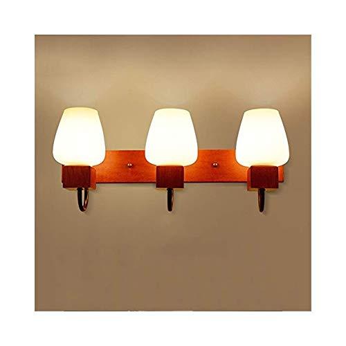 JCM LED spiegel wandlamp moderne Chinese badkamer grote capaciteit hout retro slaapkamer make-up dressing licht ZJ