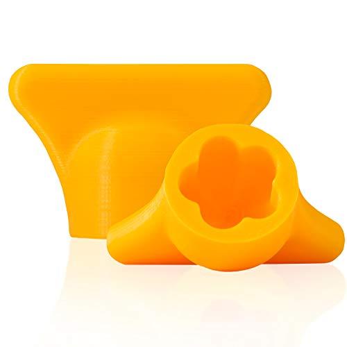 mix-slider - Monsieur Cuisine Connect kompatible Teigblume, Teiglöser Zubehör Küchenmaschine MCC 3D Gedruckt Made in Germany (Gelb)