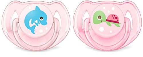 Philips AVENT SCF169/38 - Chupete (Chupete clásico para bebés, Silicona, Rosa, 6 mes(es), 18 mes(es), Inglaterra)