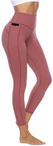 Persit Sporthose Damen, Sport Leggins für Damen Yoga Leggings Yogahose Sportleggins, Dusty Rose, 34 (Herstellergröße: XS)