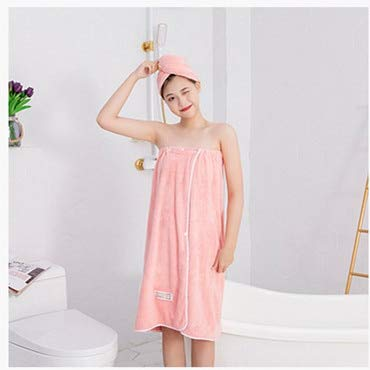 Xiaobing 2pcs / Set señoras Honda Toalla de baño de Secado rápido Lindo Bowknot Viaje Pelo seco Lazo Diadema-E Pink-Set