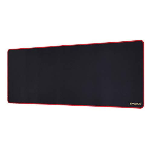 Cimetech Large Gaming Mouse Pad with Stitched Edges, Non-Slip Rubber Base, Premium-Textured, Waterproof Mousepad Mouse Mat Mouse Pads for Gamer,Laptop & Desktop 31.5×11.8×0.15 inches, Red Black