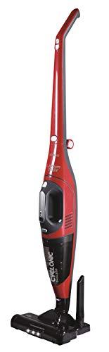 SOGO SS-16150-R Aspiradora vertical 2 en 1 Ciclónico | Sin cables | Cepillo Motorizado | Silencioso | Aspiradora Fácil de Limpiar | 150W - Color Rojo y Gris
