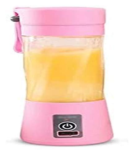LHAHGLY Protable Mini Juicer Cup Tamaño Personal Blender USB Recarga Máquina mezcladora Máquina de Mezcla multifunción exprimidor electrico (Color : Pink)