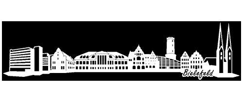 Samunshi® Wandtattoo Bielefeld Skyline Wandaufkleber in 6 Größen und 19 Farben (210x51cm weiß)