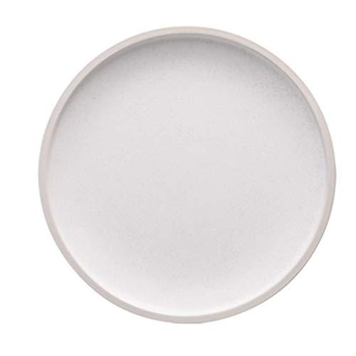 XIUXIU Assiette De Steak Occidental En Céramique De Haute Qualité Européenne De Ménage Simple Plat De Salade Glacée Mate De Couleur Solide (Color : B, Taille : 21.2cm)