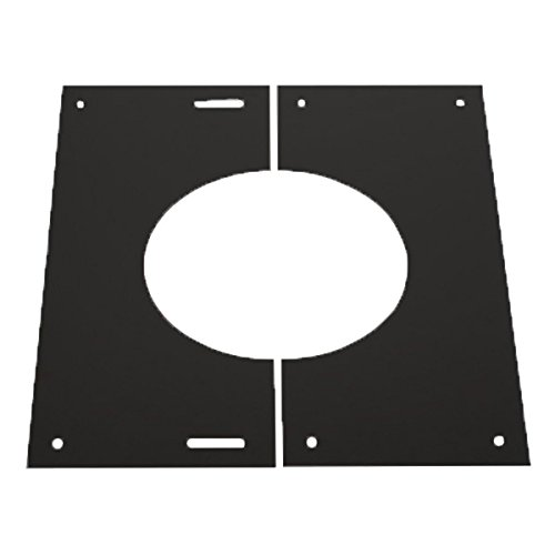 SHIELDMASTER 5' (125mm) 30-45 Degree Finishing Plate Twin Wall Insulated Flue.