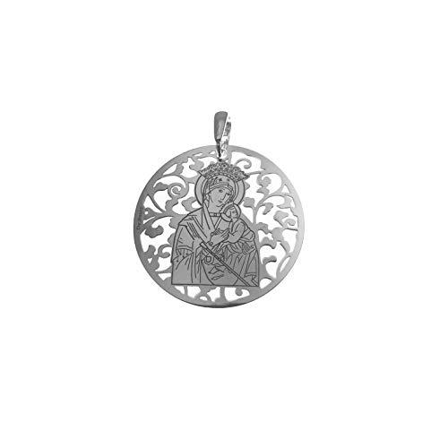Medalla Virgen del Perpetuo Socorro de Almoradí en Plata de Ley