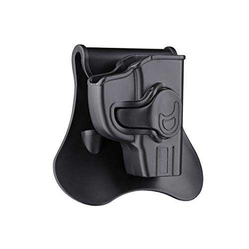 OWB Paddle Holster for Ruger LCP, Kel-Tec P3AT 380 Sub-Compact Pistol(Not LCP II or Laser Models), 360° Adjustable Outside Waistband Holsters, Fast Release Tactical Gun Holster - Right Handed