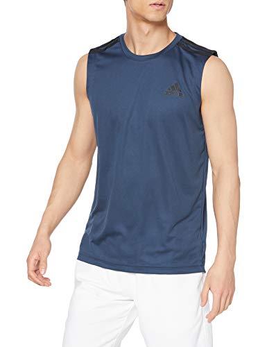 [アディダス] ノースリーブ Tシャツ D2M 3ストライプス タンクトップ メンズ クルーネイビー(GM2132) 日本...