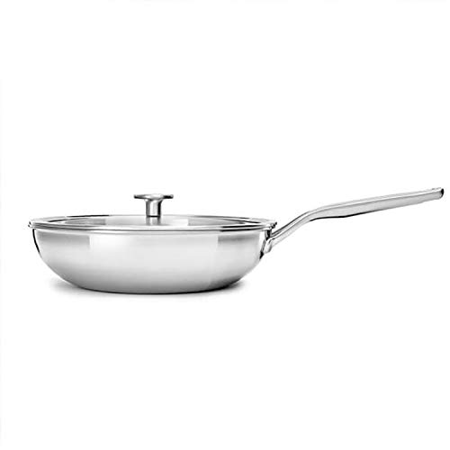 KitchenAid Mehrlagiger Edelstahl-Wok mit Deckel, 3-lagig, 28 cm