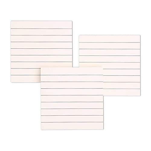 ERUYN Bloc de Notas Adhesivo Creativo 80 Hojas/Bloc de Notas de cuadrícula Horizontal en Blanco Estrellado Papel de Notas reciclable N Postes Bloc de Notas para Estudiantes línea Horizontal