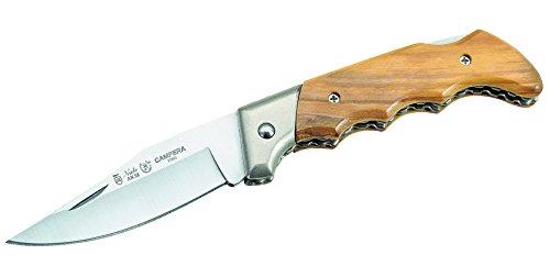 Nieto Unisex– Erwachsene Messer Taschenmesser Olivenholz-Schalen Länge geöffnet: 18.3 cm, braun, 18.3
