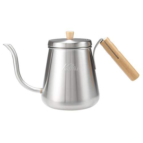 カリタkalitaコーヒーポットステンレス製木柄ハンドル1000mlDP1000Wシルバー