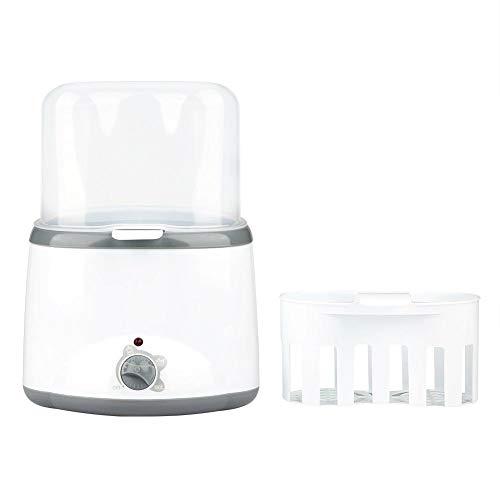 Flessenwarmer, draagbare dubbele flessenwarmer Lichtgewicht multifunctionele babyfles Melkwarmer Sterilisator Voedselverwarmer Stoomsterilisator, Snel warme flessen moedermelk, Sanitize-fopspenen(EU)