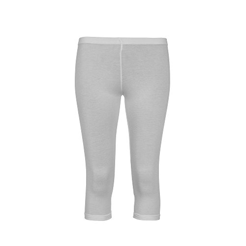 Liefde Lola Womens Leggings Cropped Leggins Dames 3/4 Gym Leggings Super Kwaliteit Wit