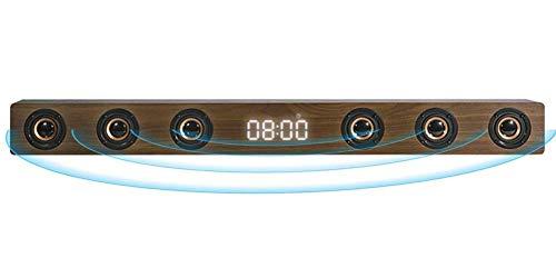 GaoF Barra de Sonido estéreo HI-FI de Madera de 30 W, Altavoz de TV inalámbrico Bluetooth, Soporte RCA AUX HDMI, para televisión de Cine en casa,