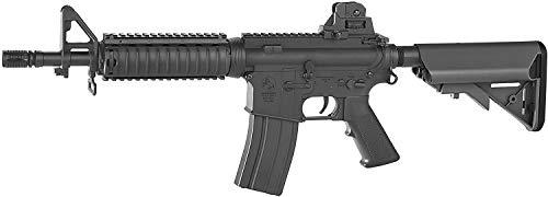 Fucile da Softair Colt M4 CGB AEG – Caricatore in Metallo da 350 Bb, Sparo a Colpo Singolo o a Raffica, Batteria e Caricabatteria, Lunghezza 68/76 cm, Peso 2710 g, Potenza