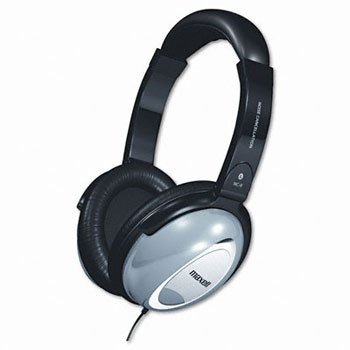 Maxell Noise Cancellation Headphones HEADSET,STEREO,BGY 2S601818B (Pack of2)