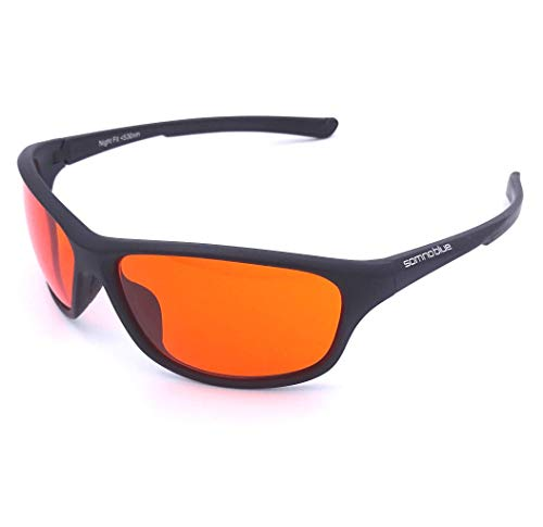 Somnoblue La nouvelle génération de lunettes anti-lumière bleue - lunettes de sommeil orange – Un sommeil plus efficace - Nouveau modèle 2020 amélioré - avec étui à lunettes