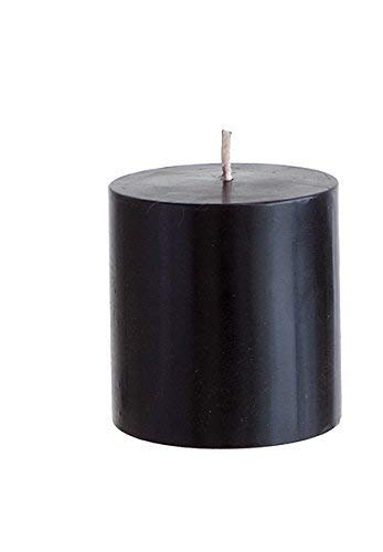 Mega Candles Unscented Black Round Pillar Candle, Hand Poured Premium Wax Candles 3 Inch x 3 Inch, H - http://coolthings.us