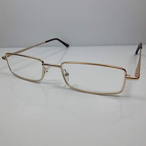 Fitsch Online UG VICTORIA heren leesbril +3,0 goud kant-en-klare bril met flexibele beugel leeshulp etui