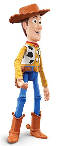 Pixar Ultimate Talker Woody Toy Story Talking Action Figure Sheriff Doll 9.2-in Tall, Posable with Cross-Movie Character Interaction, Kids Gift Ages 3 Years & Older